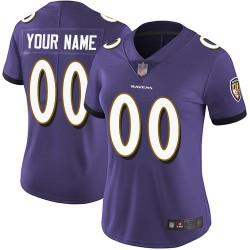 Elite Women's Purple Home Jersey - Football Customized Baltimore Ravens Vapor Untouchable