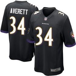 Game Men's Anthony Averett Black Alternate Jersey - #34 Football Baltimore Ravens