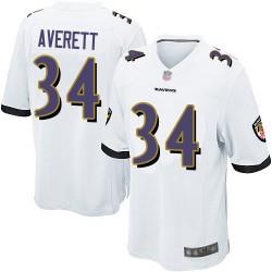 Game Men's Anthony Averett White Road Jersey - #34 Football Baltimore Ravens