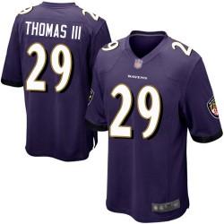 Game Men's Earl Thomas III Purple Home Jersey - #29 Football Baltimore Ravens
