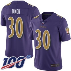 Limited Men's Kenneth Dixon Purple Jersey - #30 Football Baltimore Ravens 100th Season Rush Vapor Untouchable