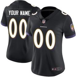 Limited Women's Black Alternate Jersey - Football Customized Baltimore Ravens Vapor Untouchable