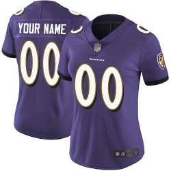 Limited Women's Purple Home Jersey - Football Customized Baltimore Ravens Vapor Untouchable