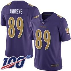 Limited Men's Mark Andrews Purple Jersey - #89 Football Baltimore Ravens 100th Season Rush Vapor Untouchable