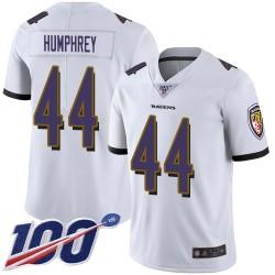 Limited Men's Marlon Humphrey White Road Jersey - #44 Football Baltimore Ravens 100th Season Vapor Untouchable