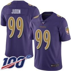 Limited Men's Matt Judon Purple Jersey - #99 Football Baltimore Ravens 100th Season Rush Vapor Untouchable