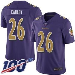 Limited Men's Maurice Canady Purple Jersey - #26 Football Baltimore Ravens 100th Season Rush Vapor Untouchable