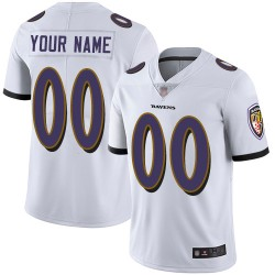 Limited Youth White Road Jersey - Football Customized Baltimore Ravens Vapor Untouchable