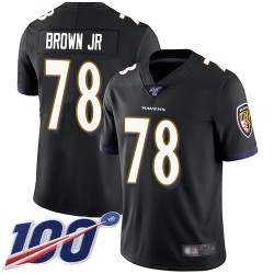 Limited Men's Orlando Brown Jr. Black Alternate Jersey - #78 Football Baltimore Ravens 100th Season Vapor Untouchable