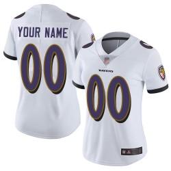 Elite Women's White Road Jersey - Football Customized Baltimore Ravens Vapor Untouchable