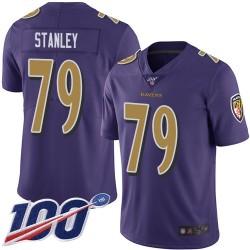 Limited Men's Ronnie Stanley Purple Jersey - #79 Football Baltimore Ravens 100th Season Rush Vapor Untouchable