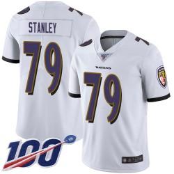 Limited Men's Ronnie Stanley White Road Jersey - #79 Football Baltimore Ravens 100th Season Vapor Untouchable