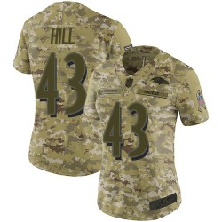 Limited Women's Justice Hill Camo Jersey - #43 Football Baltimore Ravens 2018 Salute to Service