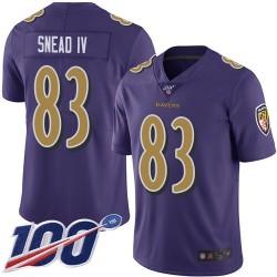 Limited Men's Willie Snead IV Purple Jersey - #83 Football Baltimore Ravens 100th Season Rush Vapor Untouchable