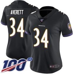 Limited Women's Anthony Averett Black Alternate Jersey - #34 Football Baltimore Ravens 100th Season Vapor Untouchable