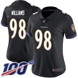 Limited Women's Brandon Williams Black Alternate Jersey - #98 Football Baltimore Ravens 100th Season Vapor Untouchable