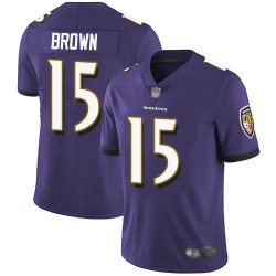Limited Men's Marquise Brown Purple Home Jersey - #15 Football ...