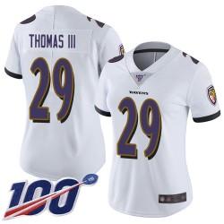 Limited Women's Earl Thomas III White Road Jersey - #29 Football Baltimore Ravens 100th Season Vapor Untouchable