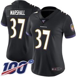 Limited Women's Iman Marshall Black Alternate Jersey - #37 Football Baltimore Ravens 100th Season Vapor Untouchable