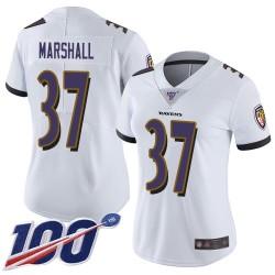 Limited Women's Iman Marshall White Road Jersey - #37 Football Baltimore Ravens 100th Season Vapor Untouchable