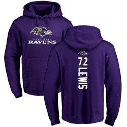 Alex Lewis Purple Backer - #72 Football Baltimore Ravens Pullover Hoodie