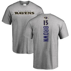 Marquise Brown Ash Backer - #15 Football Baltimore Ravens T-Shirt