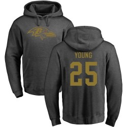 Tavon Young Ash One Color - #25 Football Baltimore Ravens Pullover Hoodie