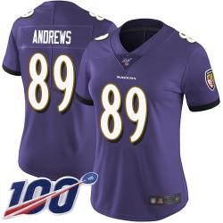 Limited Women's Mark Andrews Purple Home Jersey - #89 Football Baltimore Ravens 100th Season Vapor Untouchable