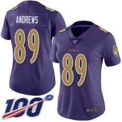 Limited Women's Mark Andrews Purple Jersey - #89 Football Baltimore Ravens 100th Season Rush Vapor Untouchable