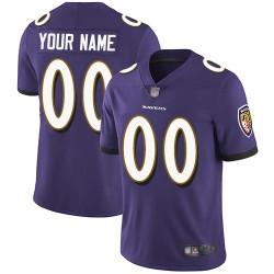 Elite Youth Purple Home Jersey - Football Customized Baltimore Ravens Vapor Untouchable