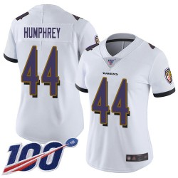 Limited Women's Marlon Humphrey White Road Jersey - #44 Football Baltimore Ravens 100th Season Vapor Untouchable
