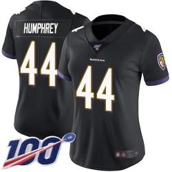 Limited Women's Marlon Humphrey Black Alternate Jersey - #44 Football Baltimore Ravens 100th Season Vapor Untouchable