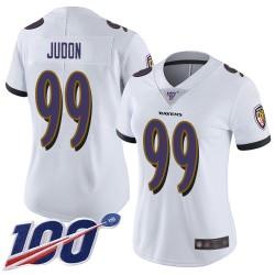 Limited Women's Matt Judon White Road Jersey - #99 Football Baltimore Ravens 100th Season Vapor Untouchable