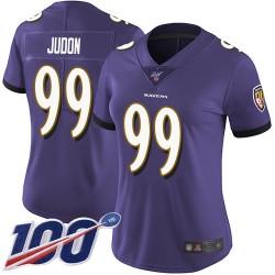Limited Women's Matt Judon Purple Home Jersey - #99 Football Baltimore Ravens 100th Season Vapor Untouchable