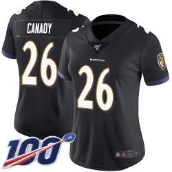 Limited Women's Maurice Canady Black Alternate Jersey - #26 Football Baltimore Ravens 100th Season Vapor Untouchable