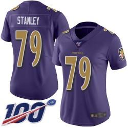 Limited Women's Ronnie Stanley Purple Jersey - #79 Football Baltimore Ravens 100th Season Rush Vapor Untouchable
