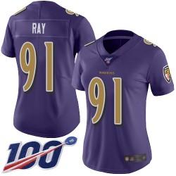 Limited Women's Shane Ray Purple Jersey - #91 Football Baltimore Ravens 100th Season Rush Vapor Untouchable