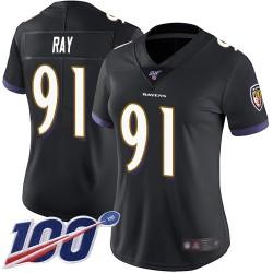 Limited Women's Shane Ray Black Alternate Jersey - #91 Football Baltimore Ravens 100th Season Vapor Untouchable