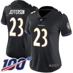 Limited Women's Tony Jefferson Black Alternate Jersey - #23 Football Baltimore Ravens 100th Season Vapor Untouchable