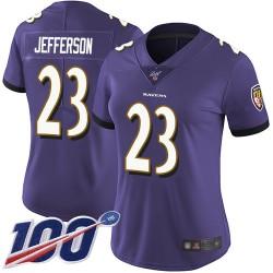 Limited Women's Tony Jefferson Purple Home Jersey - #23 Football Baltimore Ravens 100th Season Vapor Untouchable