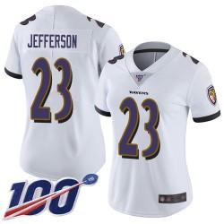 Limited Women's Tony Jefferson White Road Jersey - #23 Football Baltimore Ravens 100th Season Vapor Untouchable