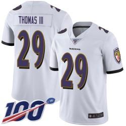 Limited Men's Earl Thomas III White Road Jersey - #29 Football Baltimore Ravens 100th Season Vapor Untouchable
