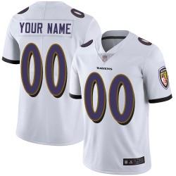 Elite Youth White Road Jersey - Football Customized Baltimore Ravens Vapor Untouchable