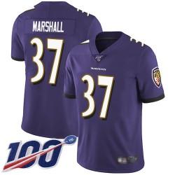 Limited Men's Iman Marshall Purple Home Jersey - #37 Football Baltimore Ravens 100th Season Vapor Untouchable