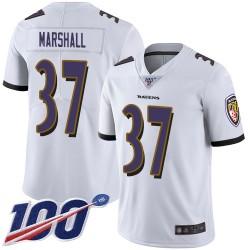 Limited Men's Iman Marshall White Road Jersey - #37 Football Baltimore Ravens 100th Season Vapor Untouchable