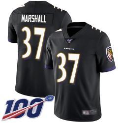 Limited Men's Iman Marshall Black Alternate Jersey - #37 Football Baltimore Ravens 100th Season Vapor Untouchable