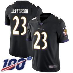 Limited Youth Tony Jefferson Black Alternate Jersey - #23 Football Baltimore Ravens 100th Season Vapor Untouchable